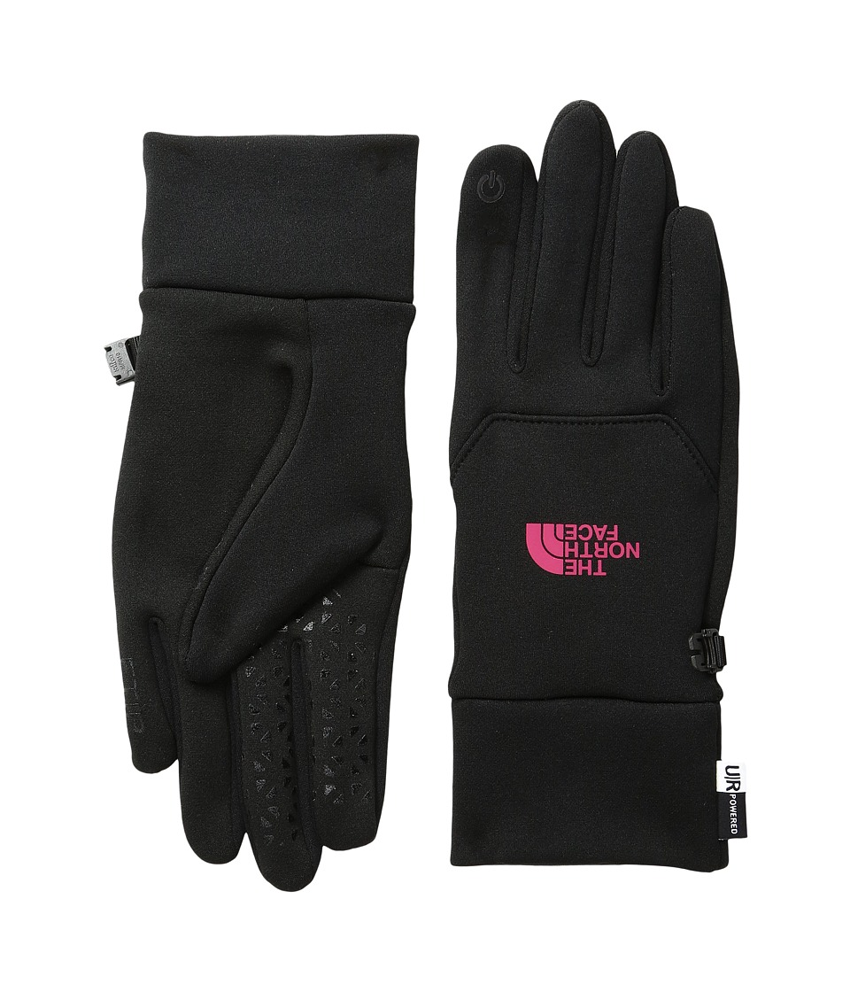 North Face Etip Gloves (TNF Black/Cerise Pink) Snowboard ...