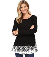Karen Kane - Plaid Print Inset Sweater