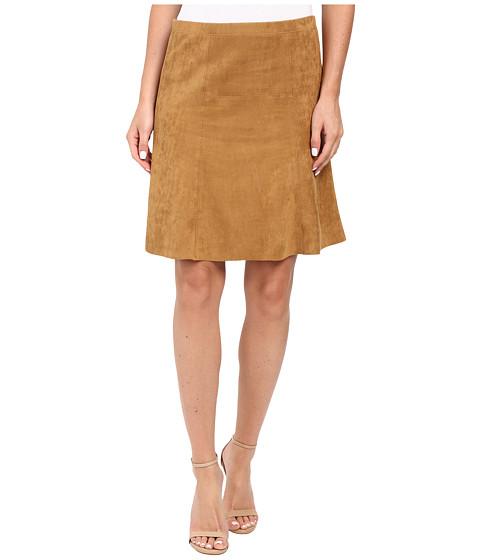 Karen Kane Flared Faux Suede Skirt