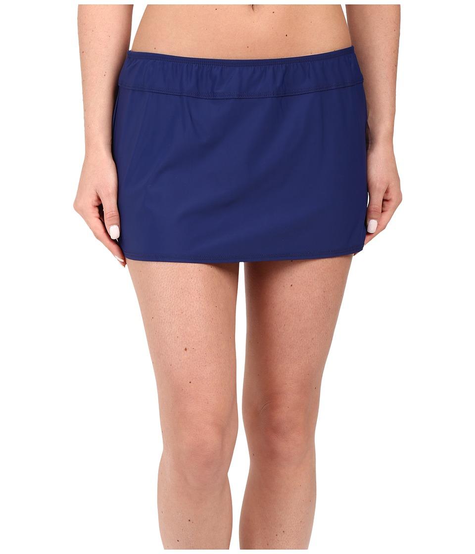 Athena Cabana Solids A Line Skirt Navy Womens Swimwear