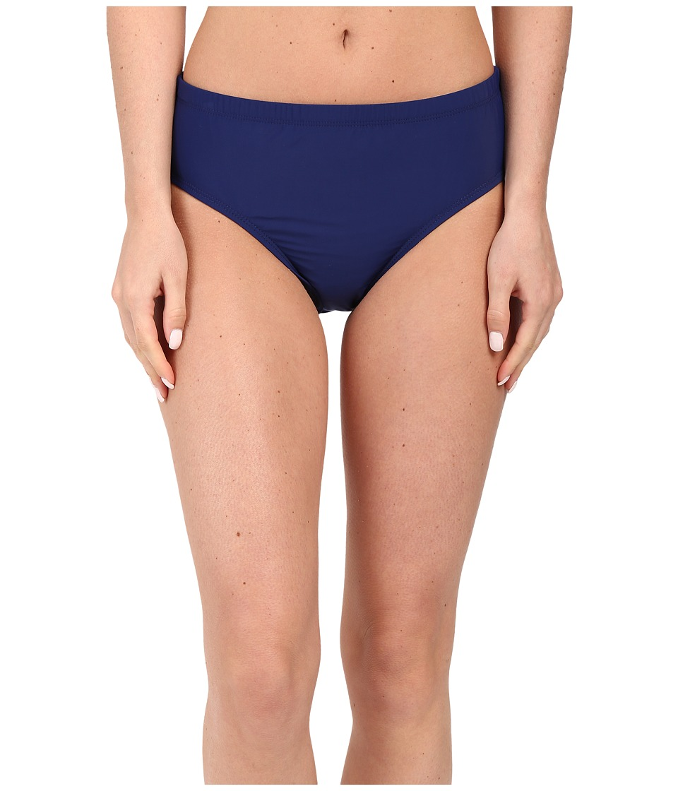 Athena Cabana Solids Mid Waist Pant Navy Womens Swimwear