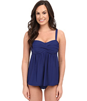 Athena - Cabana Solids Soft Cup Faux-kini One-Piece