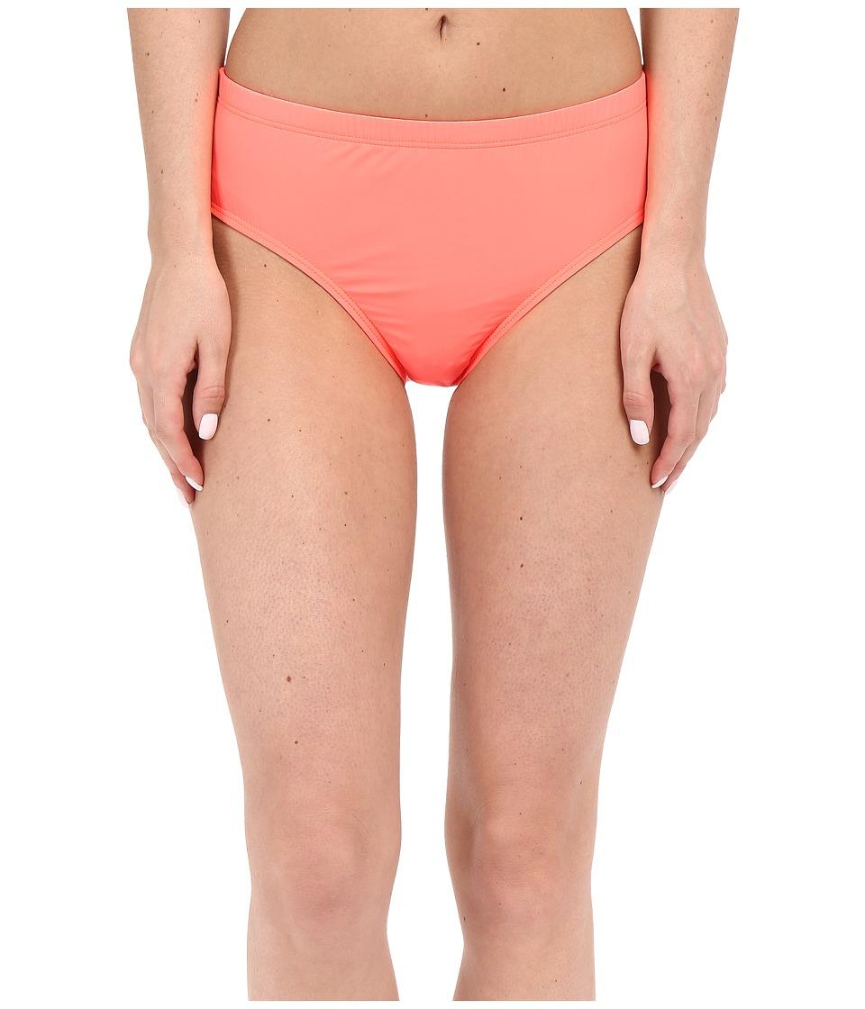 Athena Cabana Solids Mid Waist Pant Tangerine Womens Swimwear