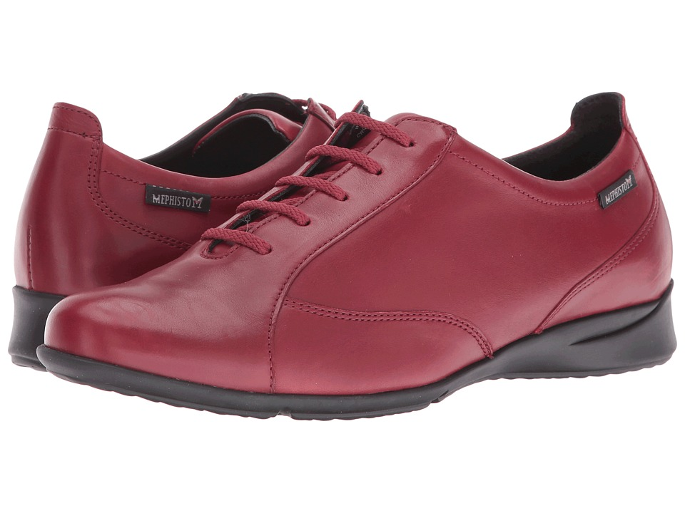 Mephisto - Valentina (Oxblood Silk) Womens Lace up casual Shoes