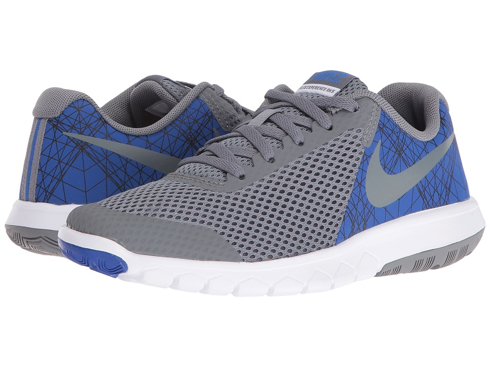 Nike Kids Flex Experience 5 Print (Big Kid) (Game Royal/White/Black/Cool Grey) Boys Shoes
