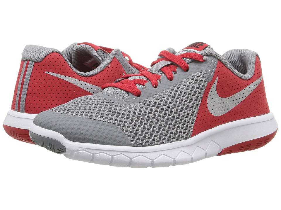 Nike Kids Flex Experience 5 (Big Kid) (Stealth/University Red/White/Metallic Silver) Boys Shoes