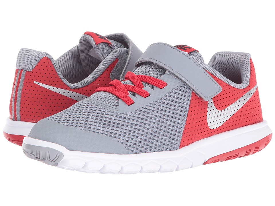Nike Kids Flex Experience 5 (Little Kid) (Stealth/University Red/White/Metallic Silver) Boys Shoes