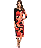 Laundry by Shelli Segal - Color Blocked Matte Jersey Sheath Dress w/ Slit