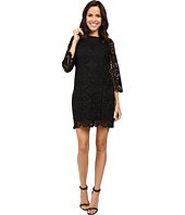 Laundry by Shelli Segal - 3/4 Sleeve Lace Dress w/ Scallops