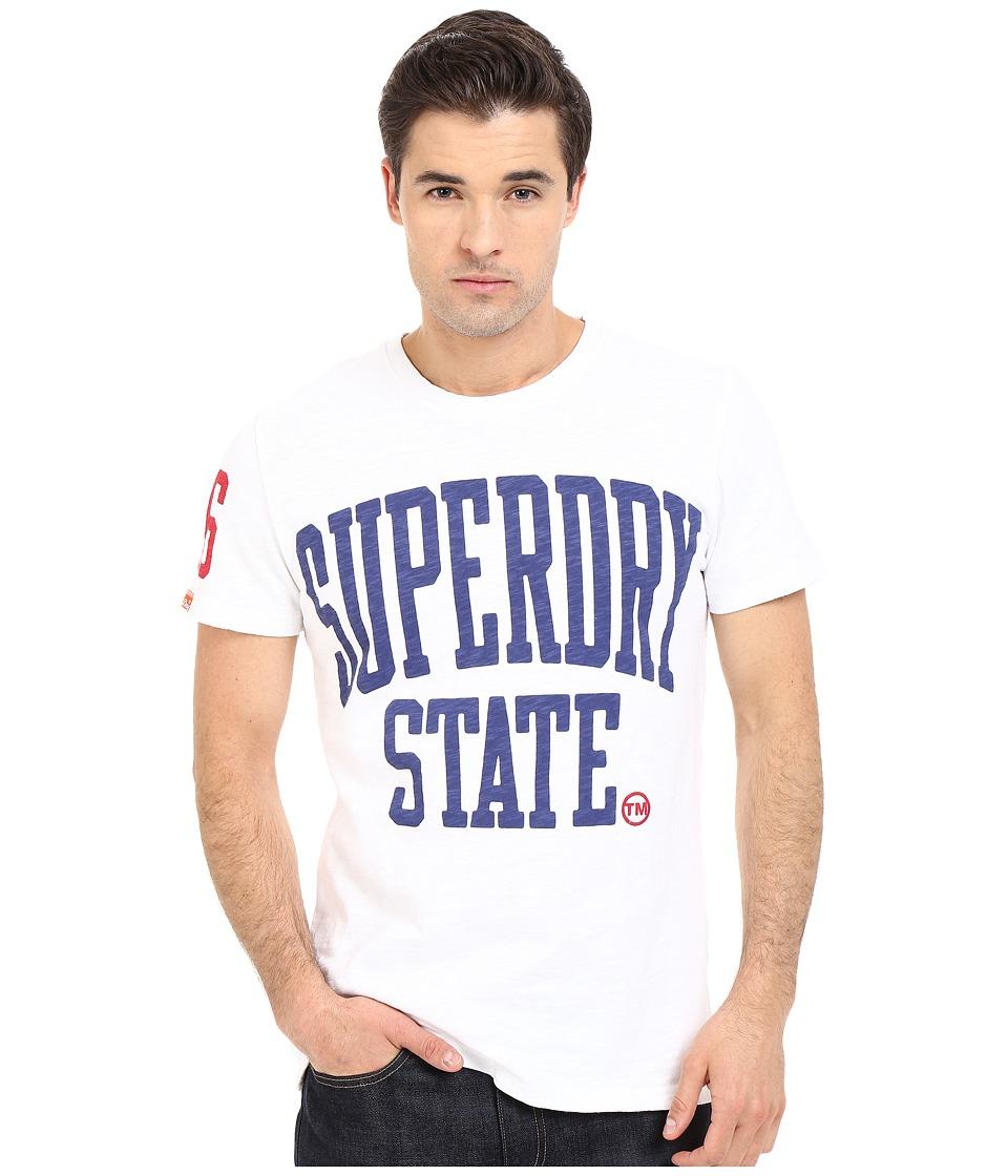 Superdry State Rebel Tee Optic Mens T Shirt