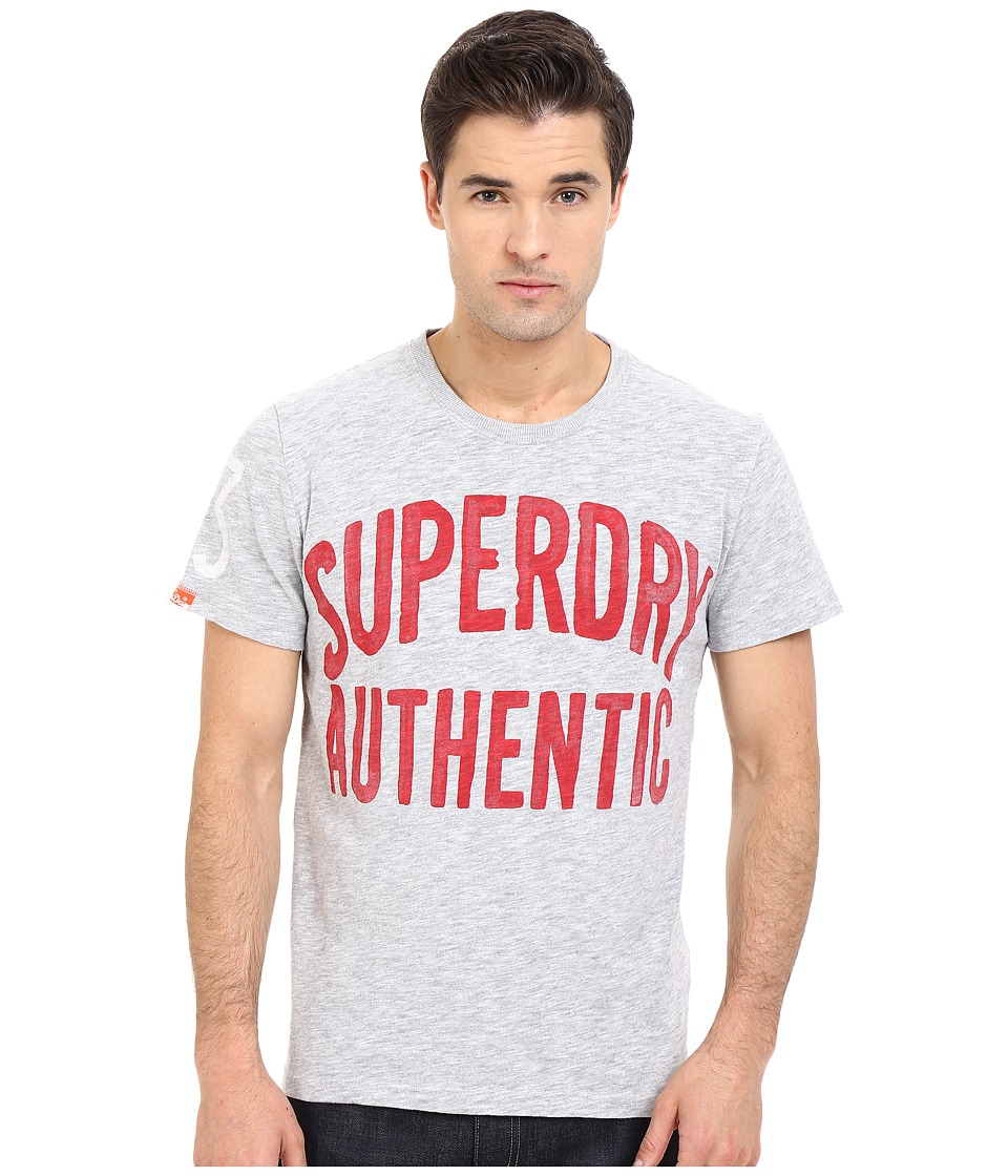 Superdry Authentic Rebel Tee Rebel Grey Mens T Shirt