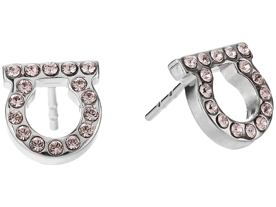 Salvatore Ferragamo - Or Face Mini Earrings (Pld/Rose Vintage) Earring