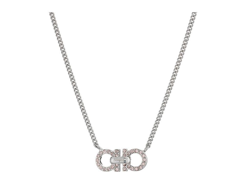 Salvatore Ferragamo - GR Face Mini Necklace (Pld/Rose Vintage) Necklace plus size,  plus size fashion plus size appare