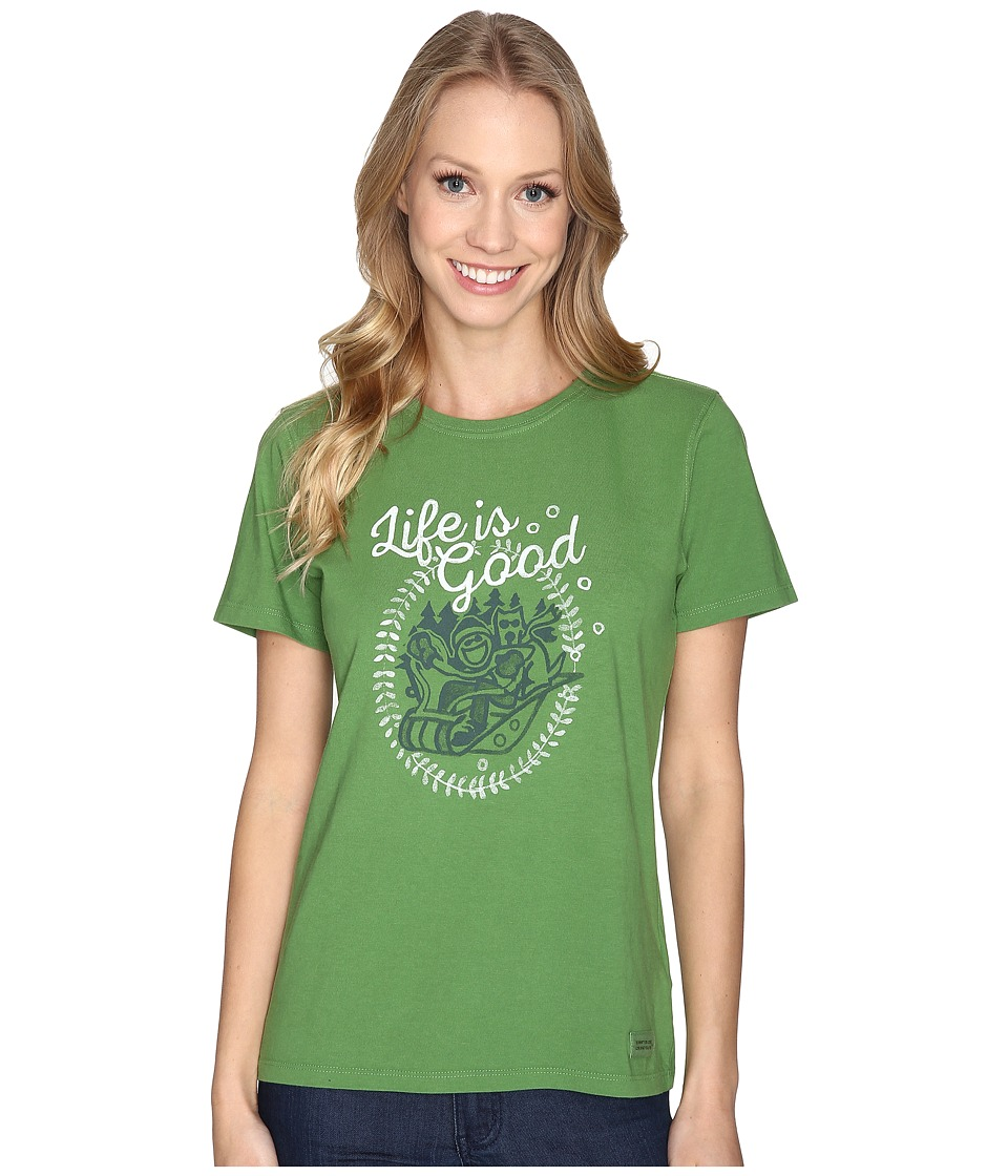 Life is good Jake And Rocket Sled Crusher Tee (Treetop Green) Women