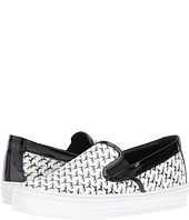 Salvatore Ferragamo - Printed Leather Slip-On Sneaker