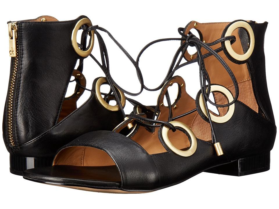Calvin Klein - Abriana (Black Leather) Women