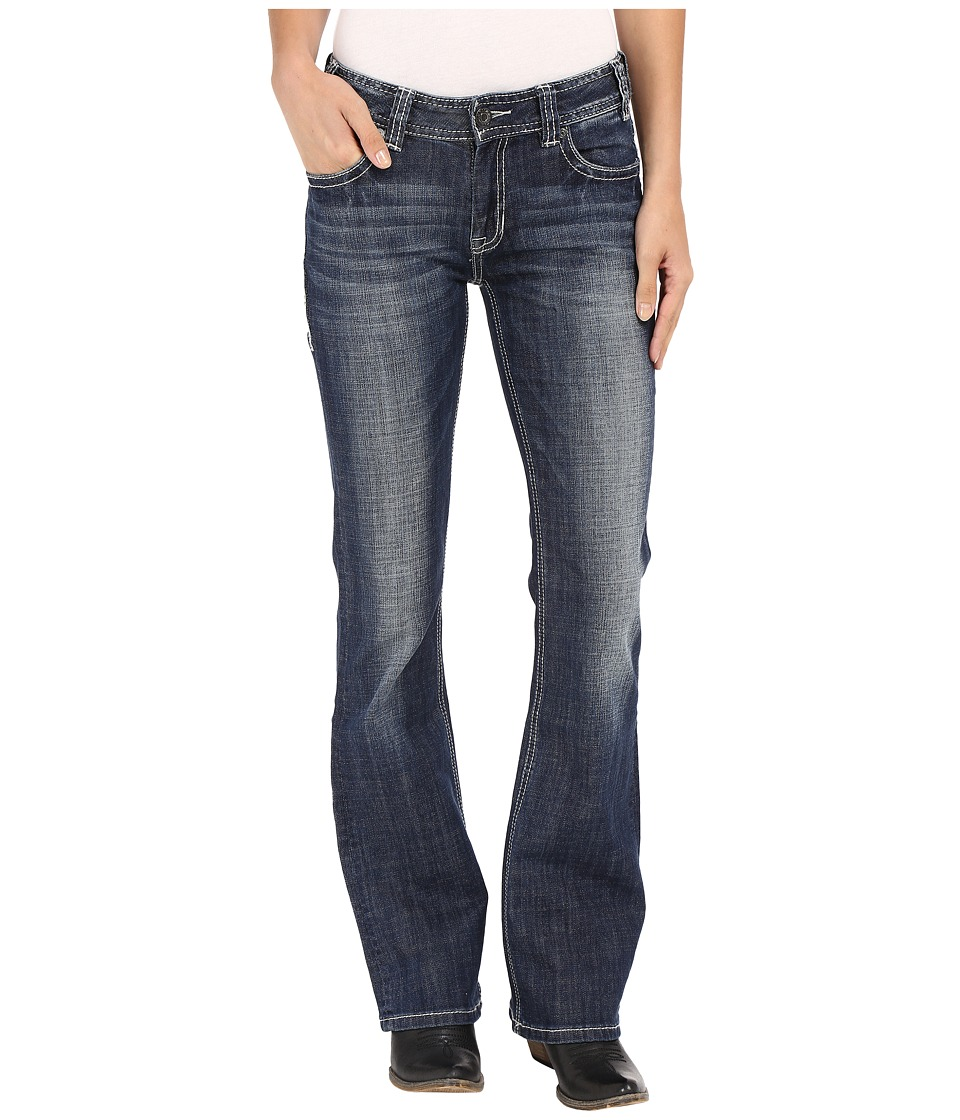 Rock and Roll Cowgirl Mid Rise Bootcut in Dark Vintage W1 7368 Dark Vintage Womens Jeans