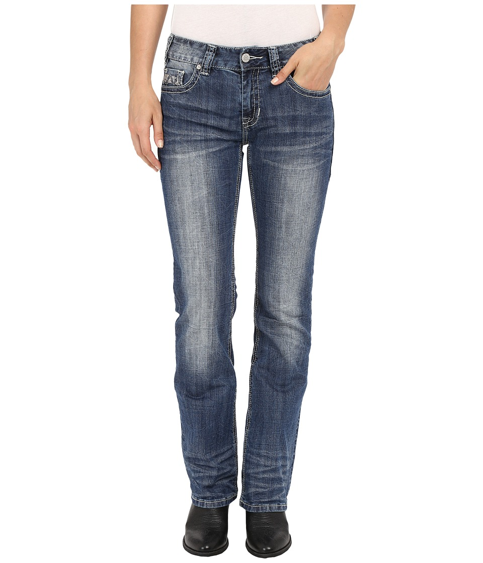 Rock and Roll Cowgirl Mid Rise Bootcut in Medium Vintage W1 7367 Medium Vintage Womens Jeans