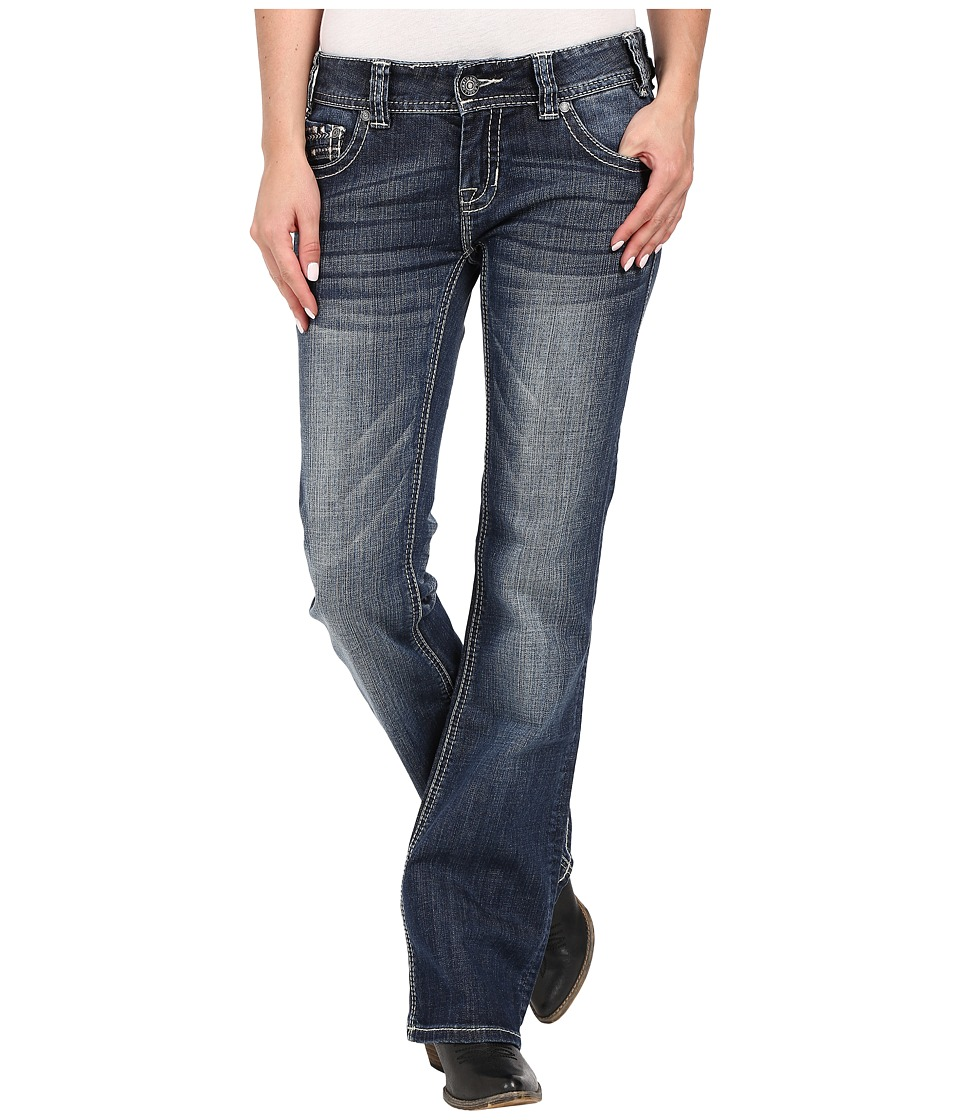 Rock and Roll Cowgirl Low Rise Bootcut in Medium Vintage W0 7361 Medium Vintage Womens Jeans