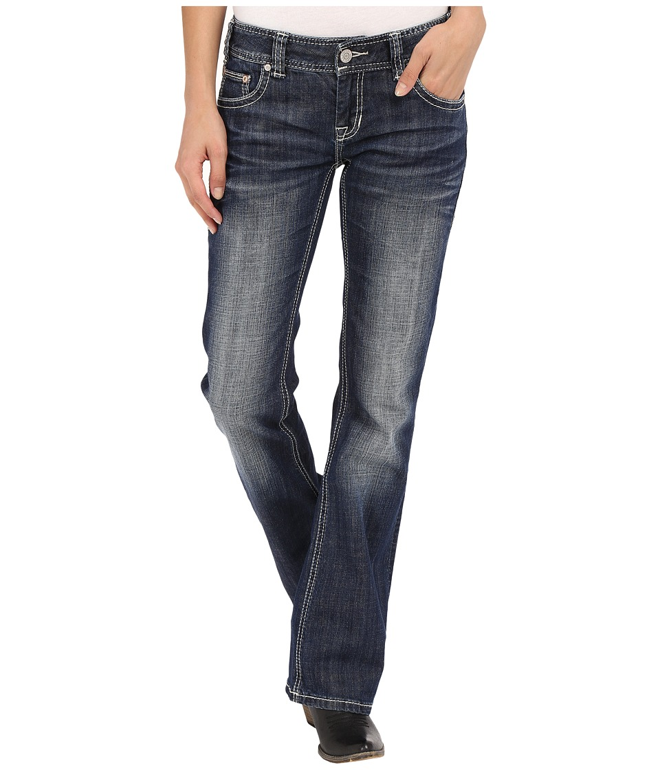 Rock and Roll Cowgirl Low Rise Bootcut in Dark Vintage W0 7362 Dark Vintage Womens Jeans