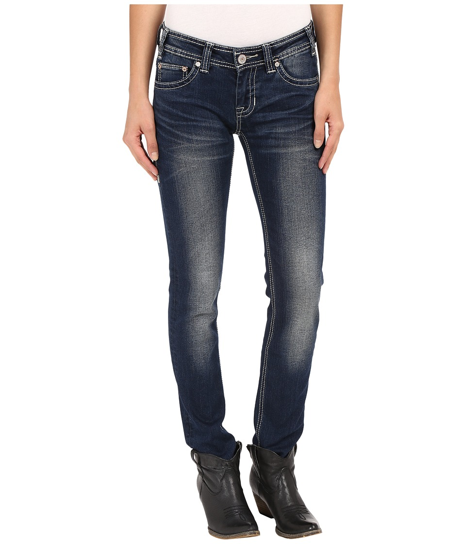 Rock and Roll Cowgirl Low Rise Skinny in Dark Vintage W0S7385 Dark Vintage Womens Jeans