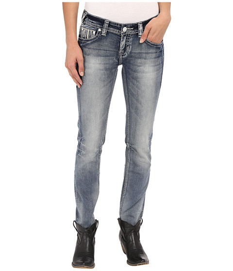 Rock and Roll Cowgirl Low Rise Skinny in Light Vintage W0S7386