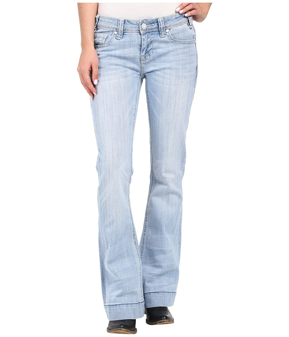 Rock and Roll Cowgirl Trousers Low Rise in Light Wash W8 7374 Light Wash Womens Jeans