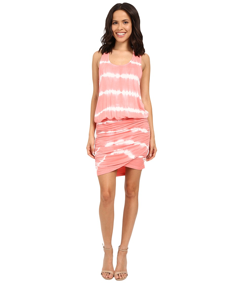 Young Fabulous amp Broke Elize Dress Melon Skinny Stripe Womens Dress