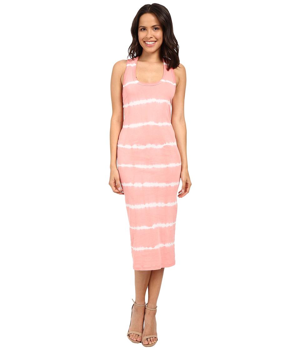 Young Fabulous amp Broke Denny Dress Melon Skinny Stipe Womens Dress