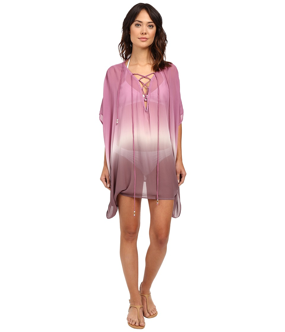 Young Fabulous amp Broke Aquatic Cover Up Wine Ombre Womens Dress