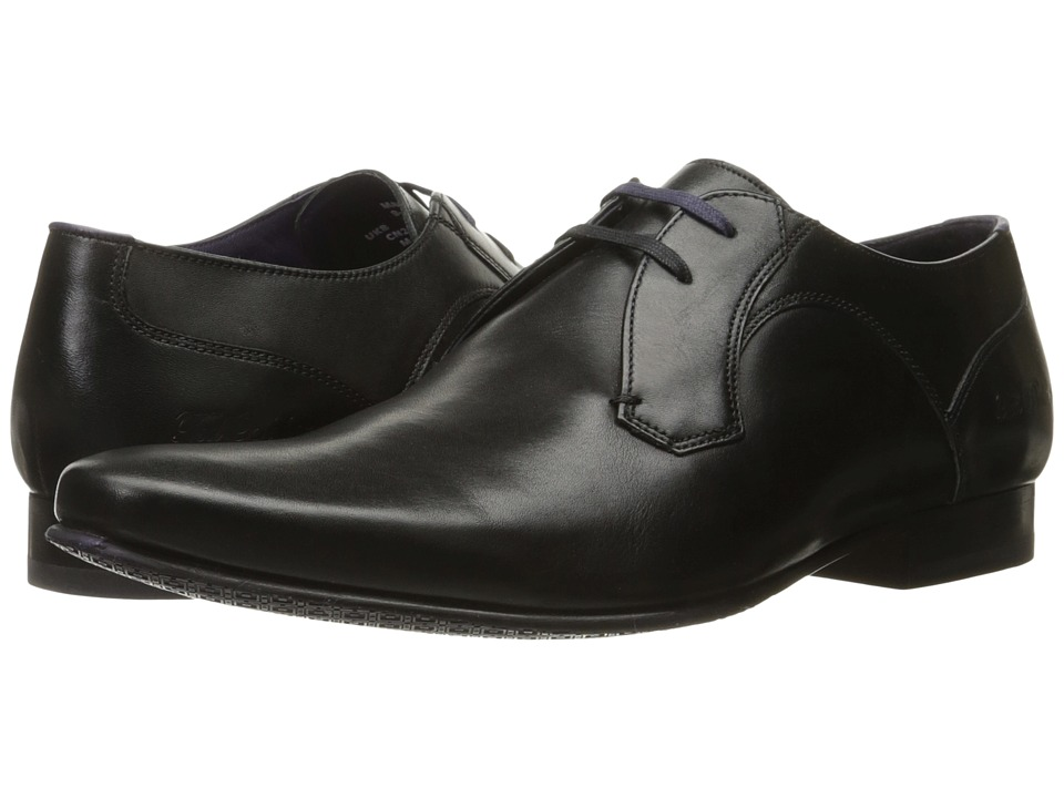 1960s Style Men's Clothing, 70s Men's Fashion Ted Baker - Martt 2 Black Leather Mens Shoes $195.00 AT vintagedancer.com