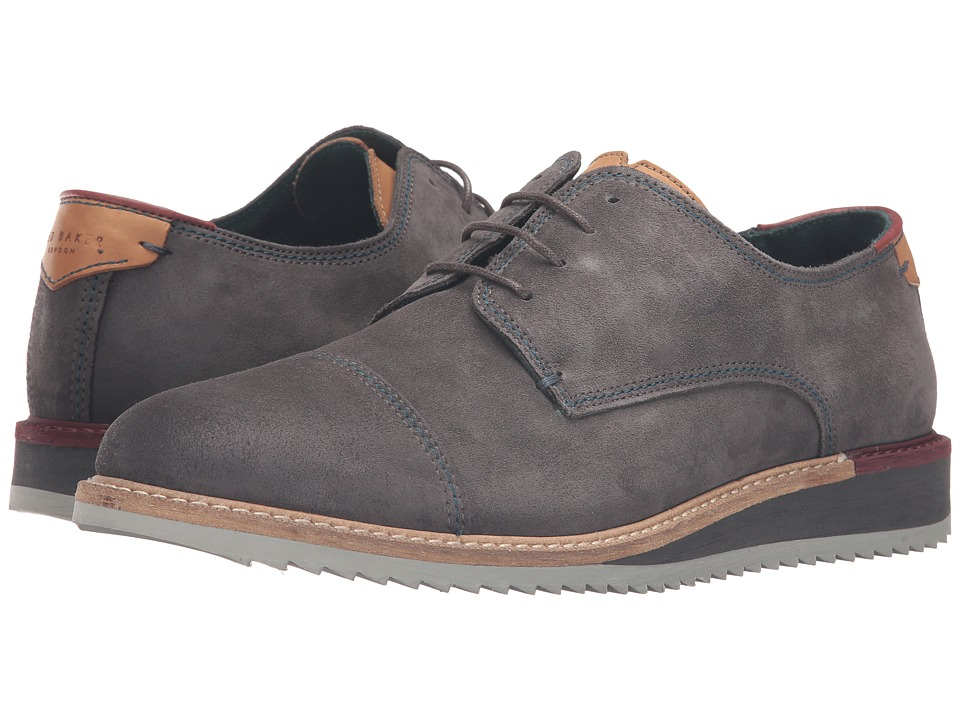 Ted Baker Gliyne (Dark Grey Waxed Suede) Men