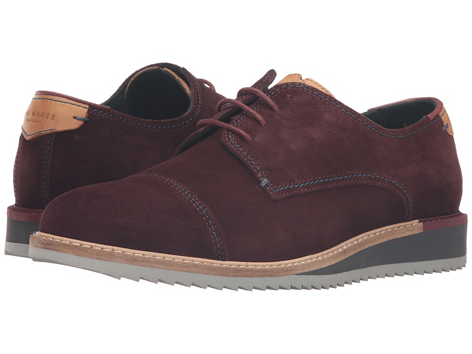 Ted Baker Gliyne (Dark Red Waxed Suede) Men
