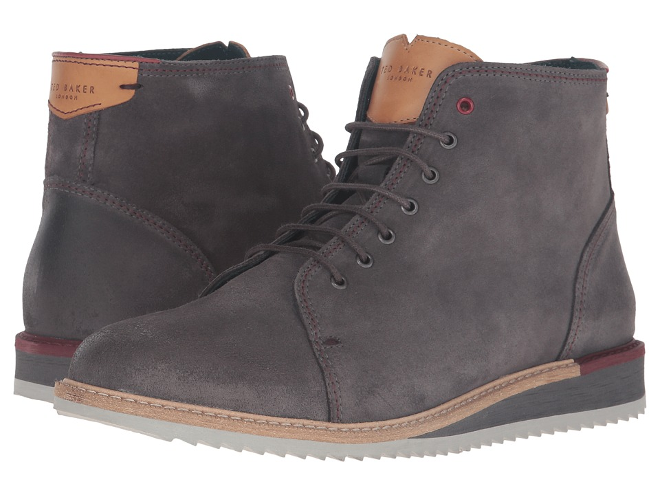 Ted Baker Odaire (Dark Grey Waxed Suede) Men