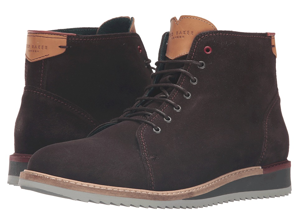 Ted Baker Odaire (Dark Brown Waxed Suede) Men