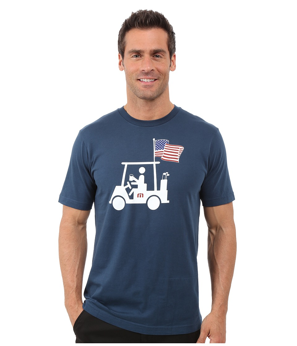 TravisMathew Mapes Flag T Shirt Dark Blue Mens T Shirt