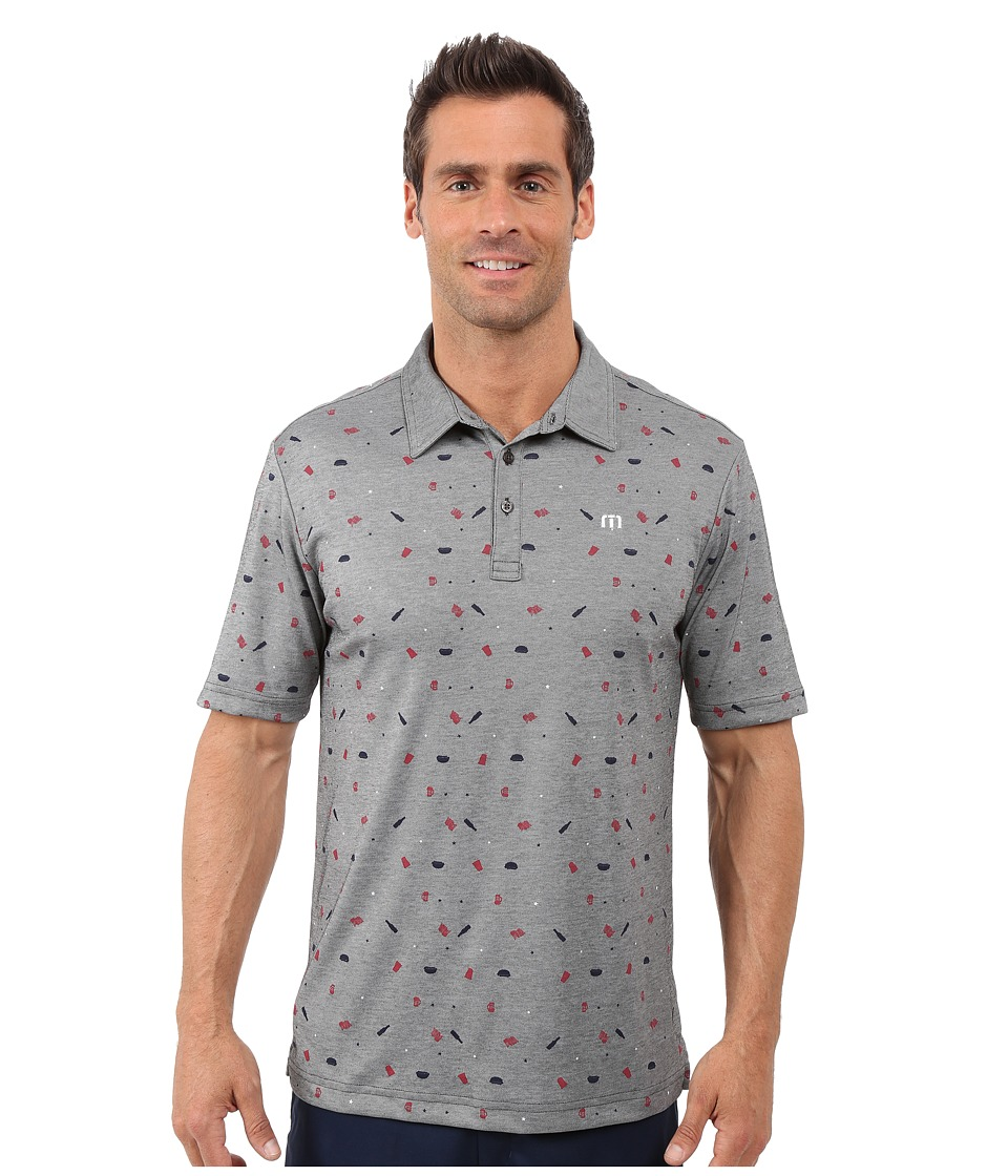 TravisMathew Living The Dream Top Heather Grey Mens Short Sleeve Pullover