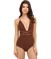 Michael Kors - Belted Plunge Maillot