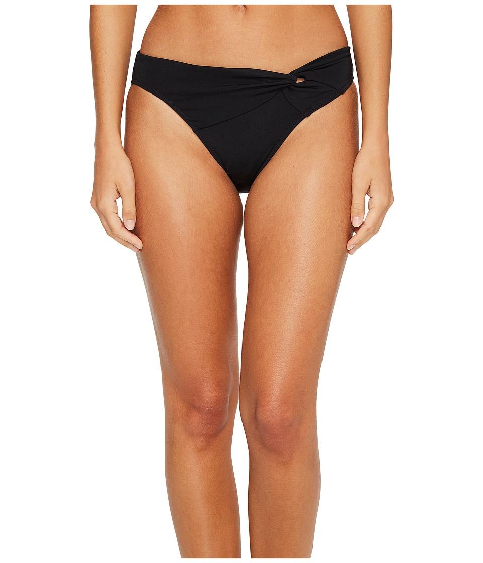 JETS by Jessika Allen Illuminate Asymmetrical Twist Front Bikini Bottom Black Womens Swimwear