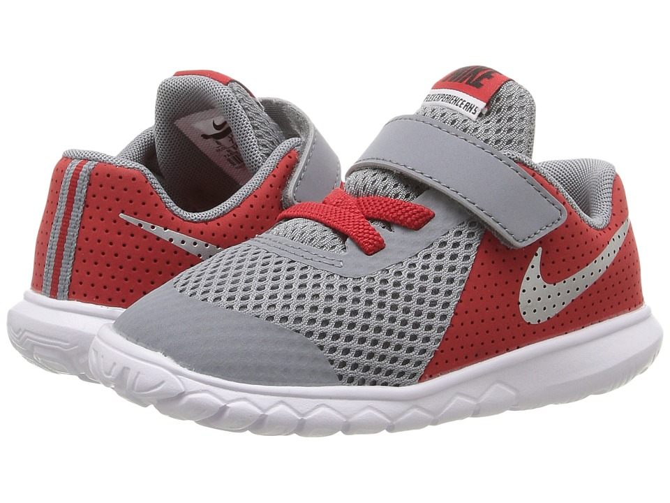 Nike Kids Flex Experience 5 (Infant/Toddler) (Stealth/University Red/White/Metallic Silver) Boys Shoes