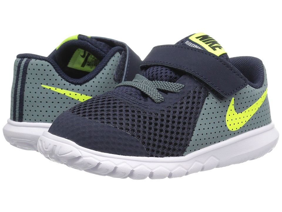 Nike Kids Flex Experience 5 (Infant/Toddler) (Obsidian/Hasta/White/Volt) Boys Shoes