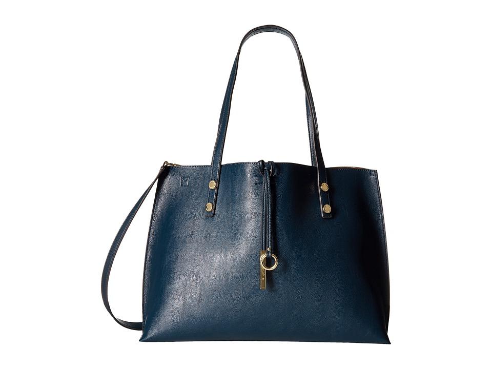 Calvin Klein - Pebble Tote (Navy/Luggage) Tote Handbags