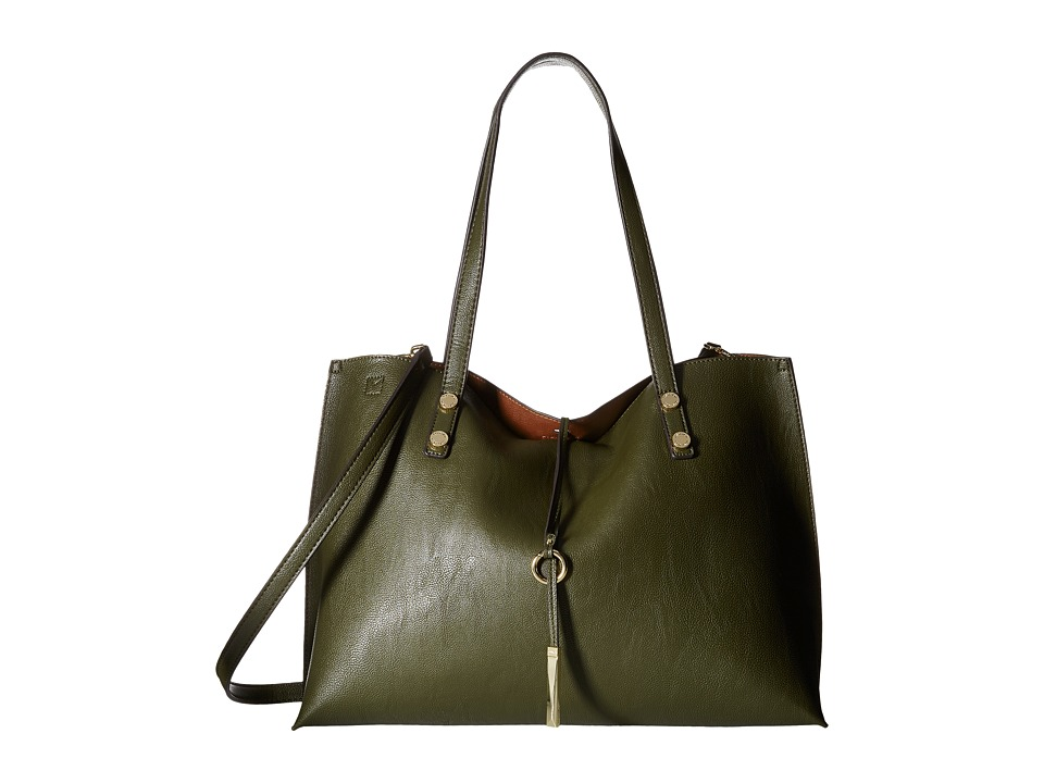 Calvin Klein - Pebble Tote (Olive/Luggage) Tote Handbags