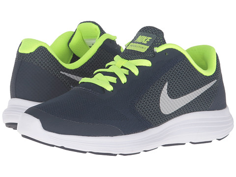 Nike Kids Revolution 3 (Big Kid) - Obsidian/Hasta/Volt/Metallic Platinum