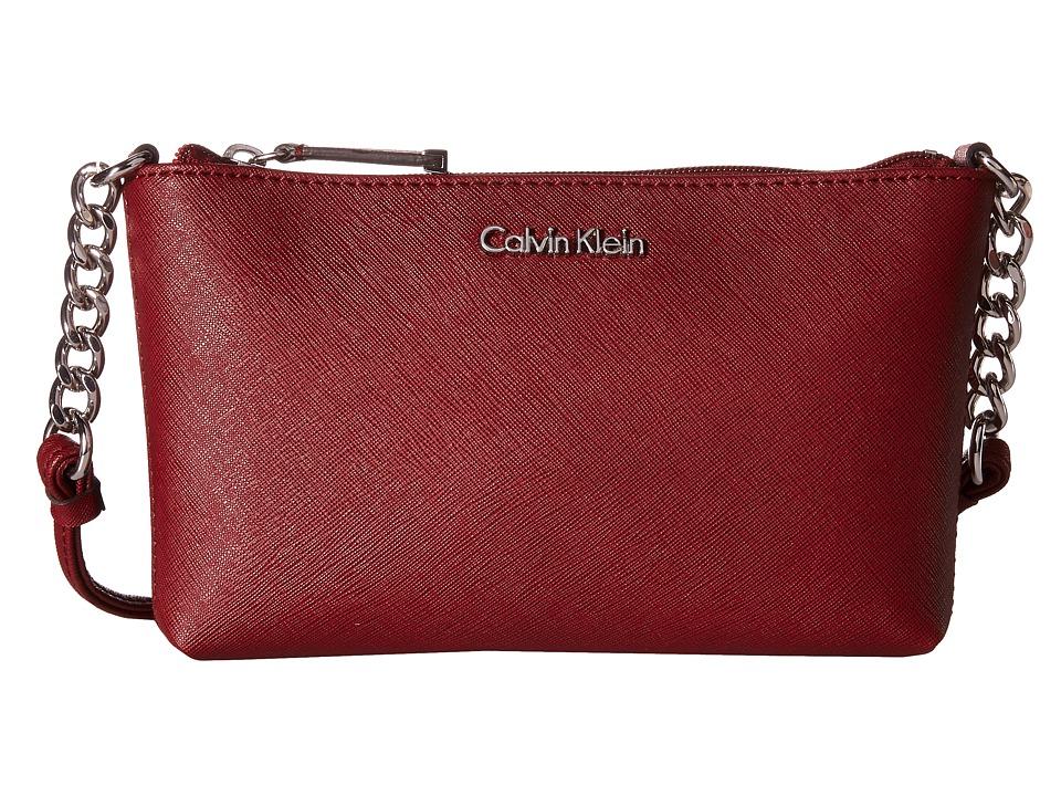 Calvin Klein - Saffiano Crossbody (Valentine) Cross Body Handbags