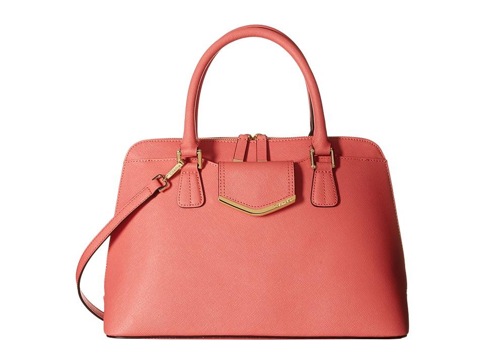 Calvin Klein - Saffiano Satchel (Salmon) Satchel Handbags