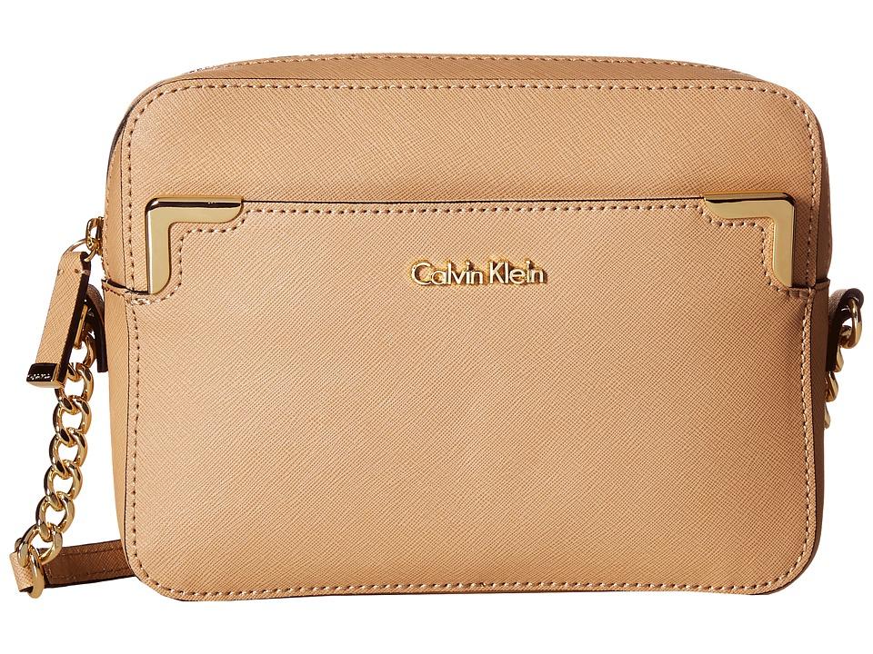 Calvin Klein - Saffiano Crossbody (Nude) Shoulder Handbags