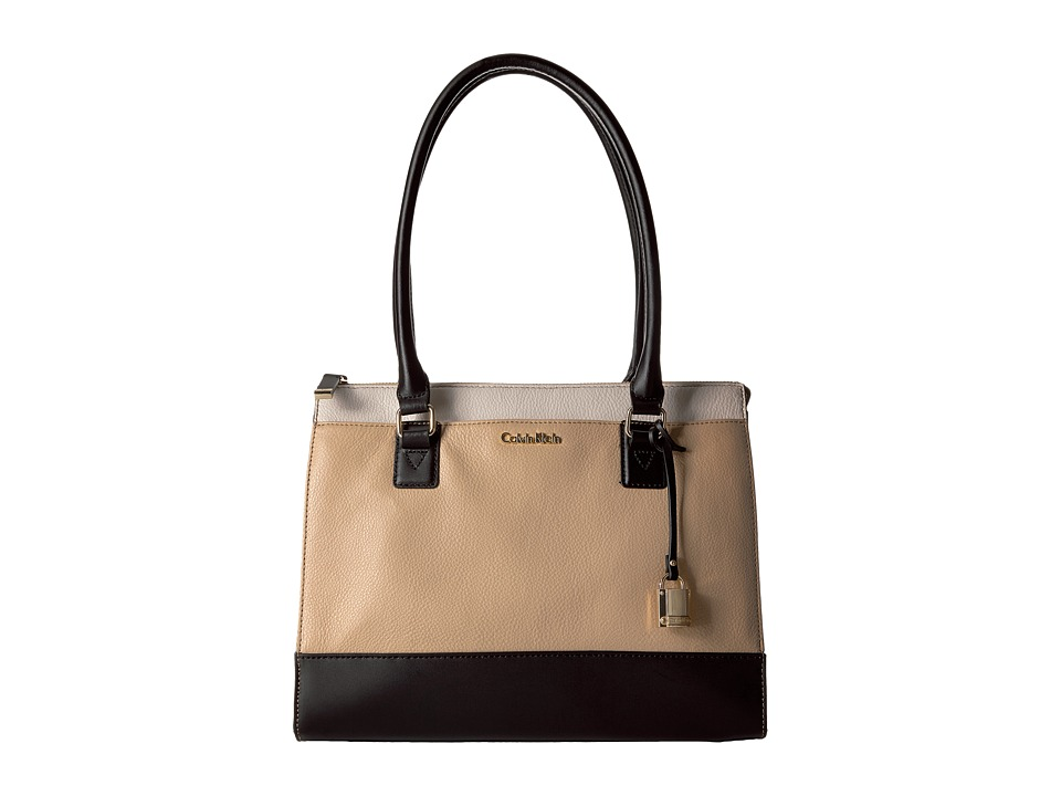 Calvin Klein - Pebble Satchel (Neutral Combo) Satchel Handbags