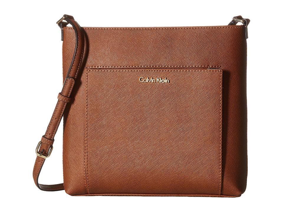 Calvin Klein - Saffiano Crossbody (Luggage) Cross Body Handbags