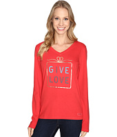 Life is good - Give Love Gift Long Sleeve Crusher Vee